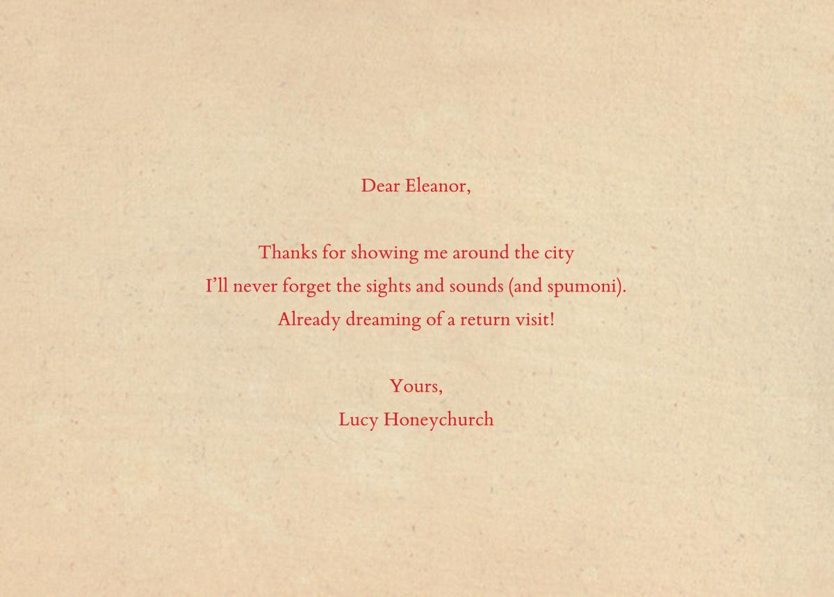 Serif Shadows - John Derian - Thank you - card back