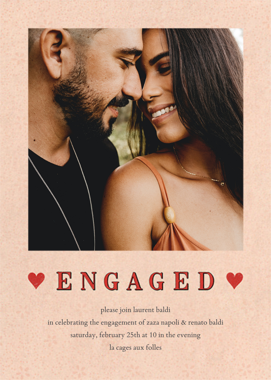 Engaged Hearts (Photo) - John Derian - Engagement party