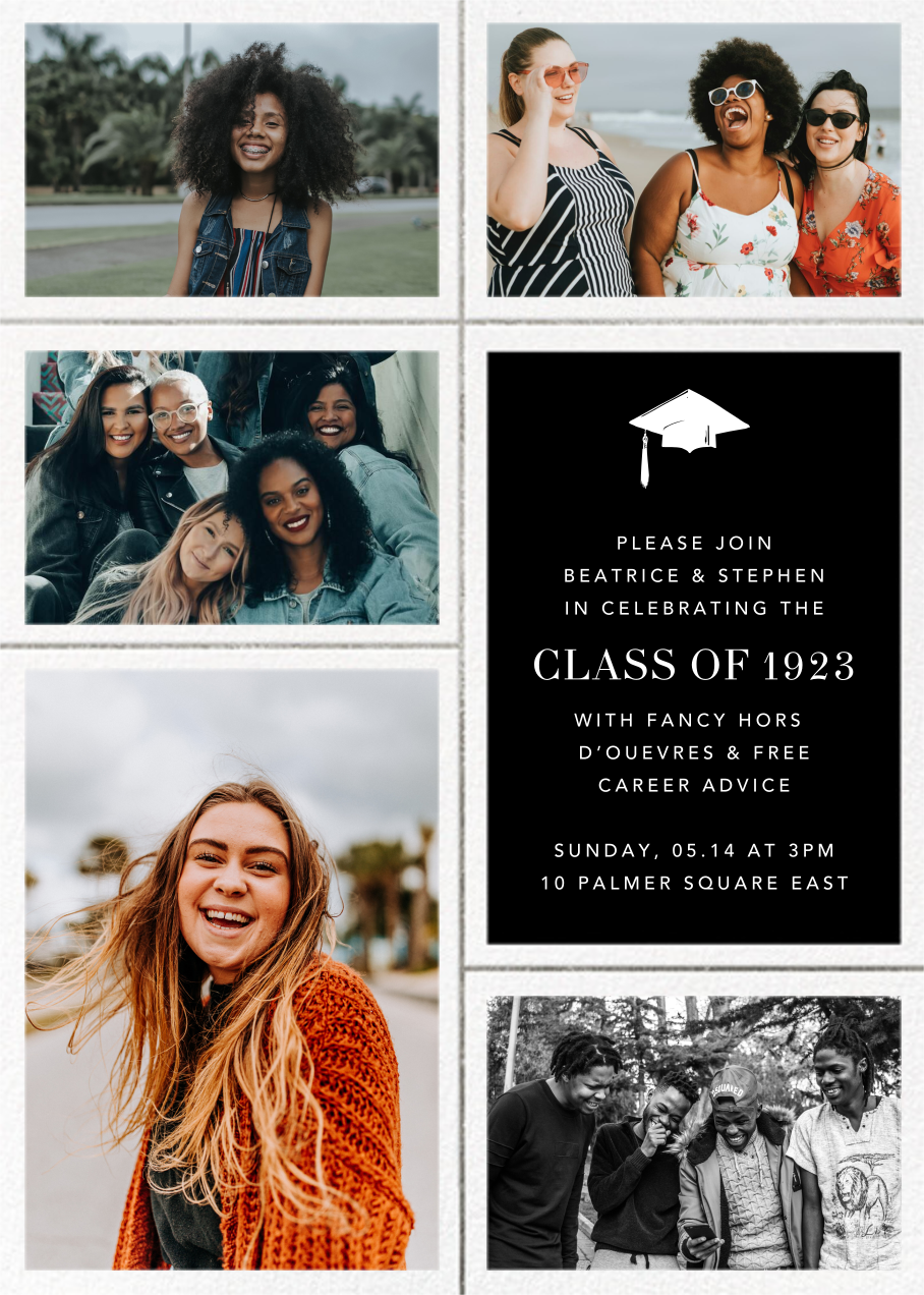 Quint - Black/Silver - Paperless Post - Graduation party