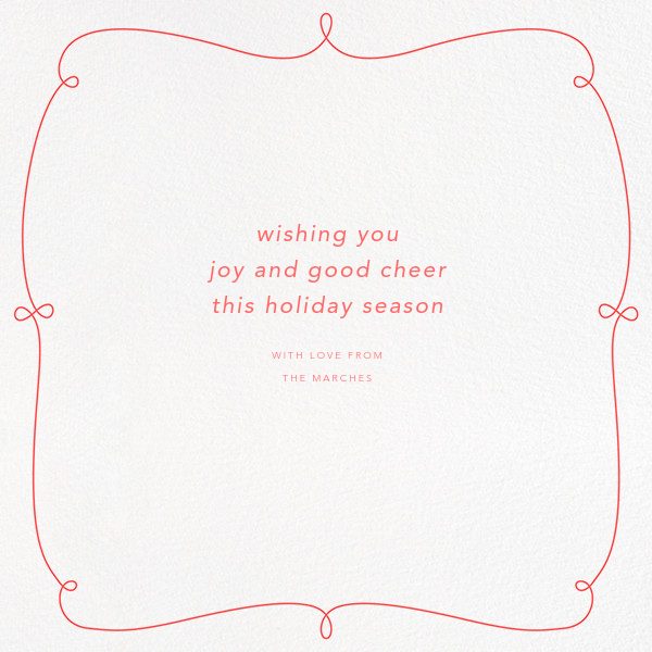 Happy Happy Joy Joy - Coral - Paperless Post - Holiday cards - card back