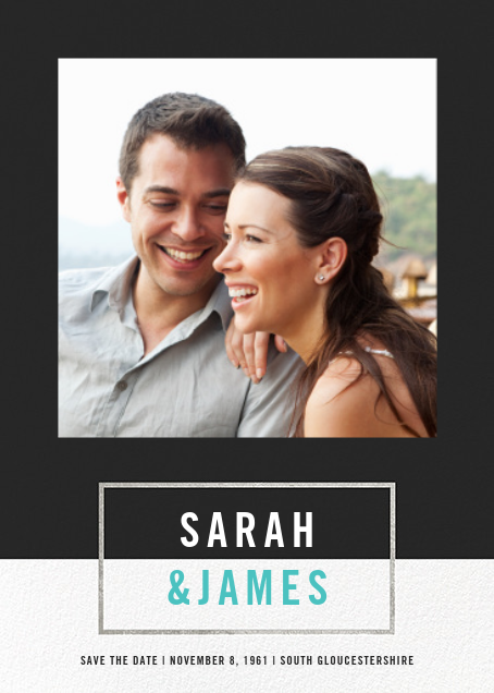 Bright and Bold (Save the Date) - Caviar/Silver - Paperless Post - Photo