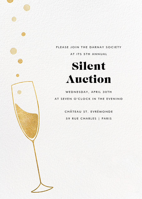Champagne Bubbles - Paperless Post - Company holiday party