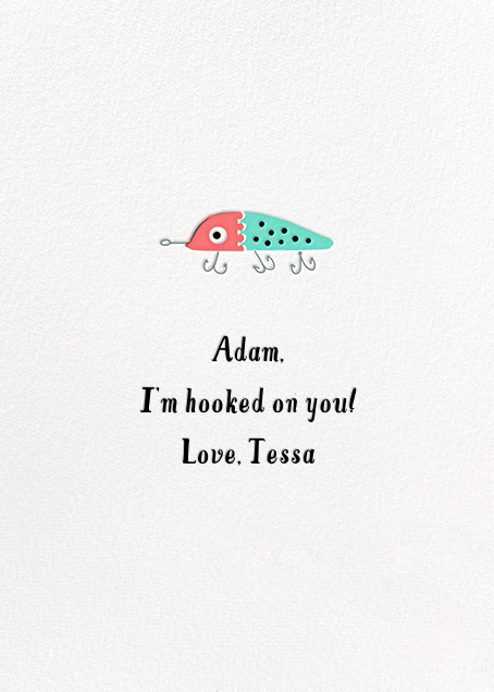 Hook, Line, and Sinker - Hello!Lucky - Valentine's Day - card back
