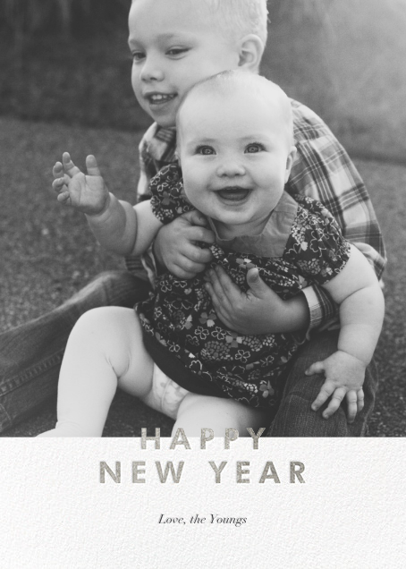 New Year Cutouts (Tall Inset) - Silver - Paperless Post