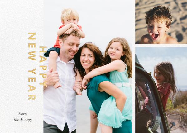 New Year Cutouts (Horizontal Multi-Photo) - Gold - Paperless Post