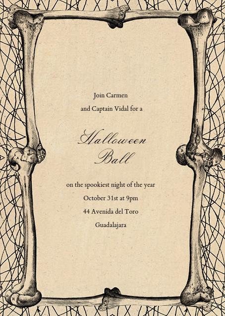 Bones Border - John Derian - Halloween