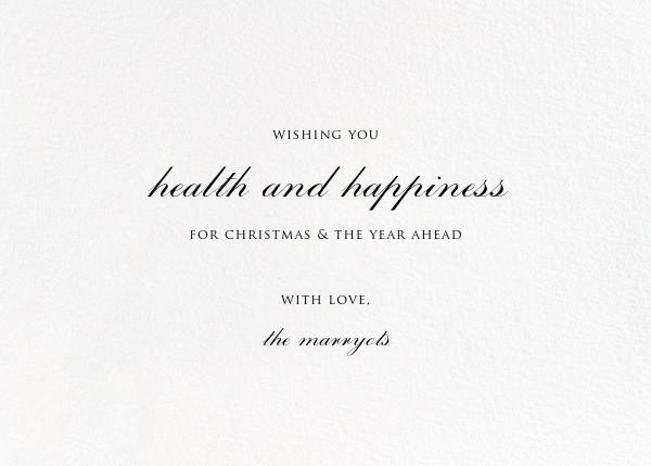 Alma (Greeting) - Liberty - Christmas - card back