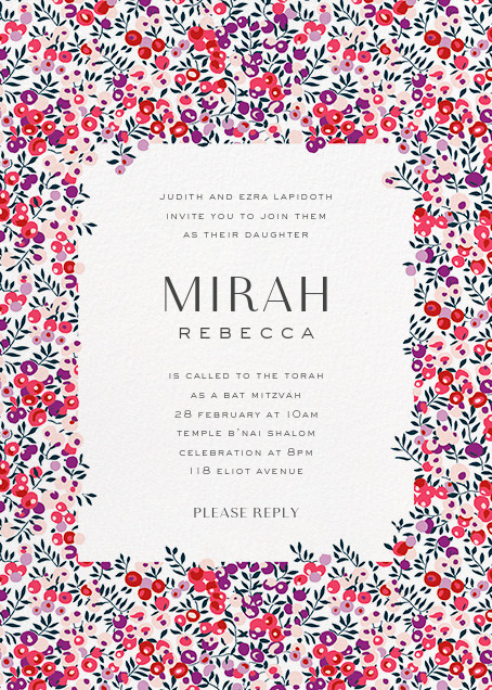 Wiltshire Berry - Pink - Liberty - Bar and bat mitzvah