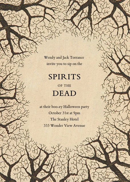 Bare Tree Border - John Derian - Halloween
