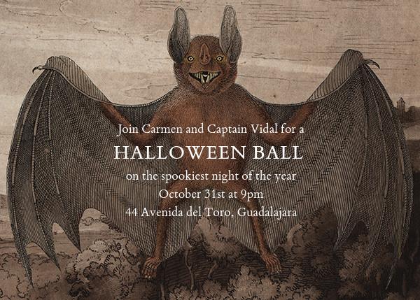 Bat (Horizontal) - John Derian - Halloween