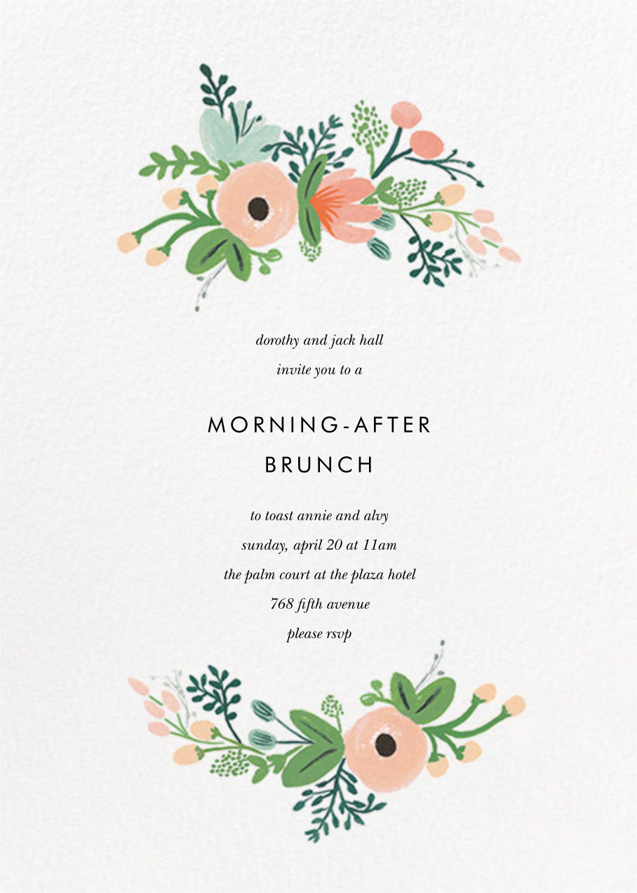 Wrapped in Wildflowers (Invitation) - Rifle Paper Co. - Wedding brunch