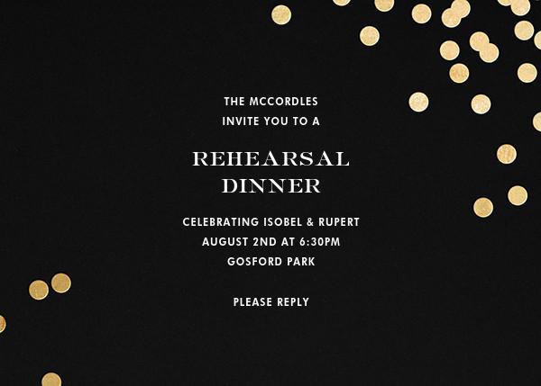 Confetti - Black/Gold - kate spade new york - Rehearsal dinner