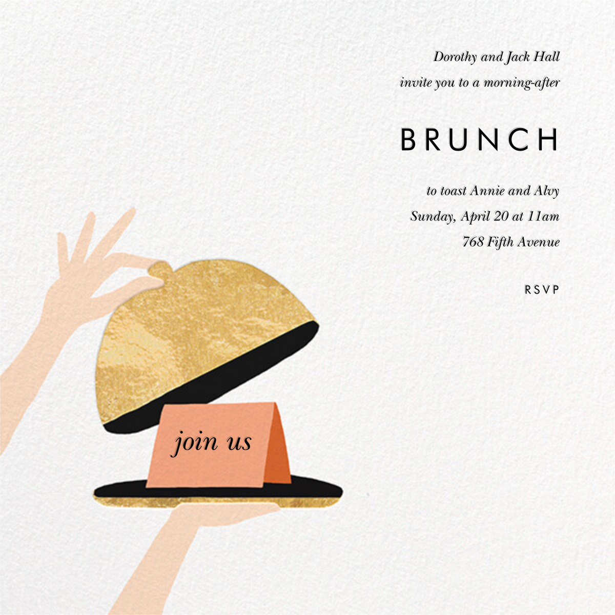 Cloche - Rifle Paper Co. - Wedding brunch