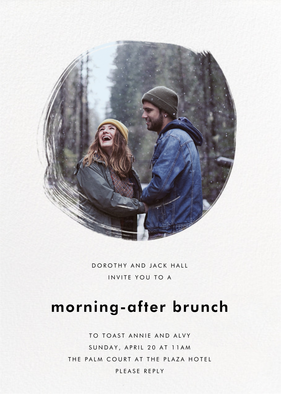 Painted Circle - Paperless Post - Wedding brunch