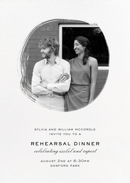 Painted Circle (Invitation) - Paperless Post - Rehearsal dinner