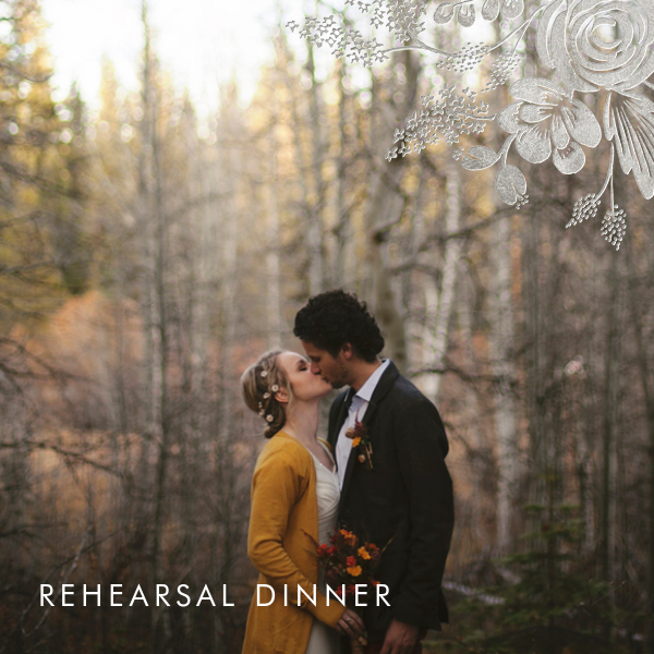 Heather and Lace (Photo) - Silver - Rifle Paper Co. - Rehearsal dinner