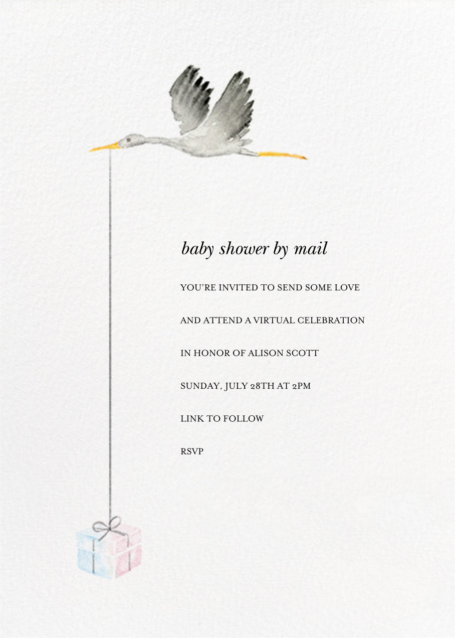 Feather Express - Paperless Post - Baby shower