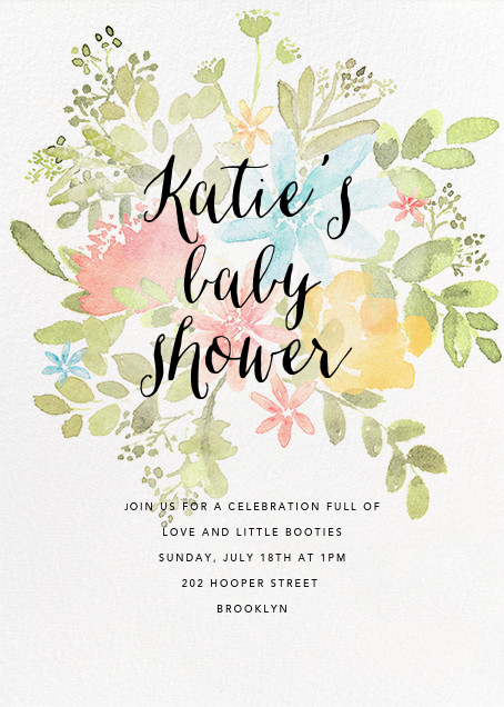 Pressed Blossoms - Multi - Paperless Post - Baby shower