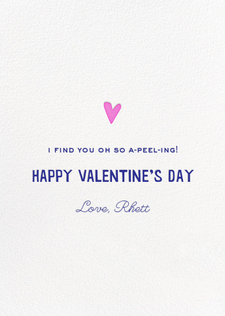 That Lovin' Peeling - Hello!Lucky - Love cards - card back