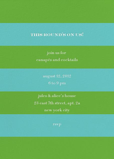 Evergreen Stripes - Green/Blue - kate spade new york - Summer entertaining