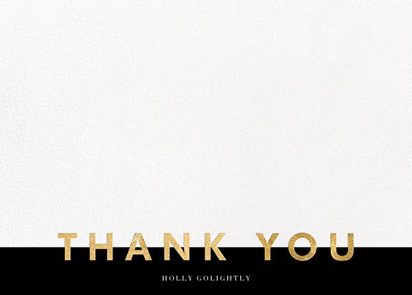 Field of Thanks - Black/Gold - Paperless Post - Wedding