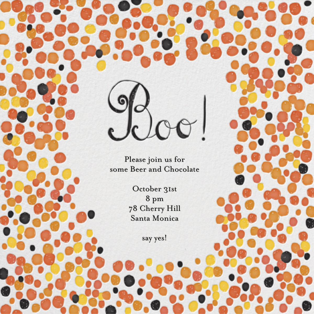 Chocolates for Candy Corns - Mr. Boddington's Studio - Kids' Halloween invitations