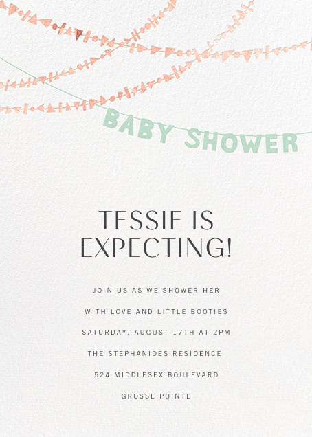 Shower Shapes - Mint/Rose Gold - Paperless Post - Baby shower