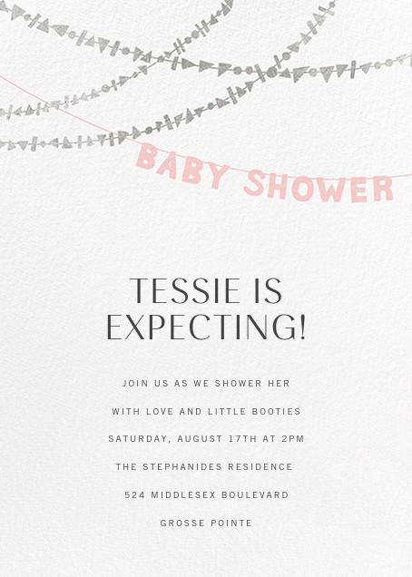 Shower Shapes - Pavlova/Silver - Paperless Post - Baby shower