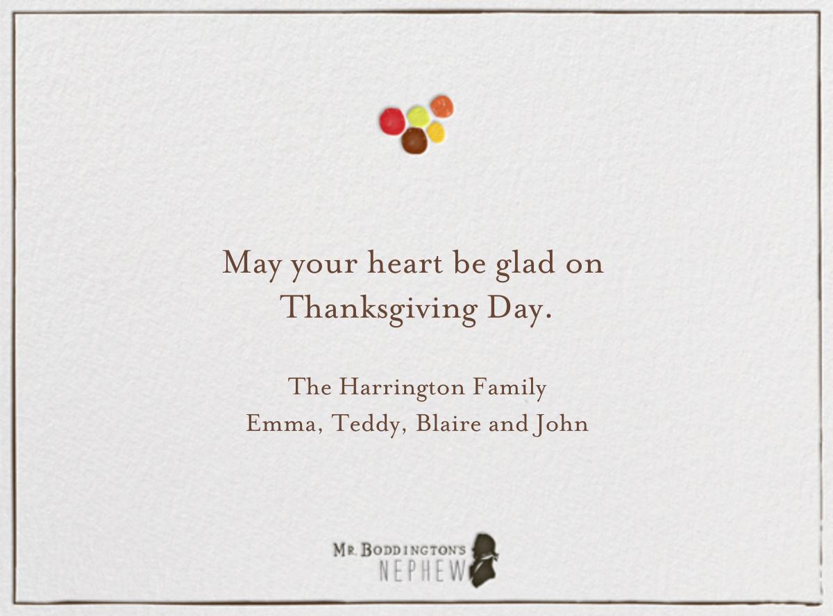 I Love You Plenty - Mr. Boddington's Studio - Thanksgiving - card back