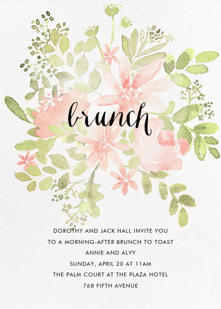 Pressed Blossoms - Pink - Paperless Post - Wedding brunch