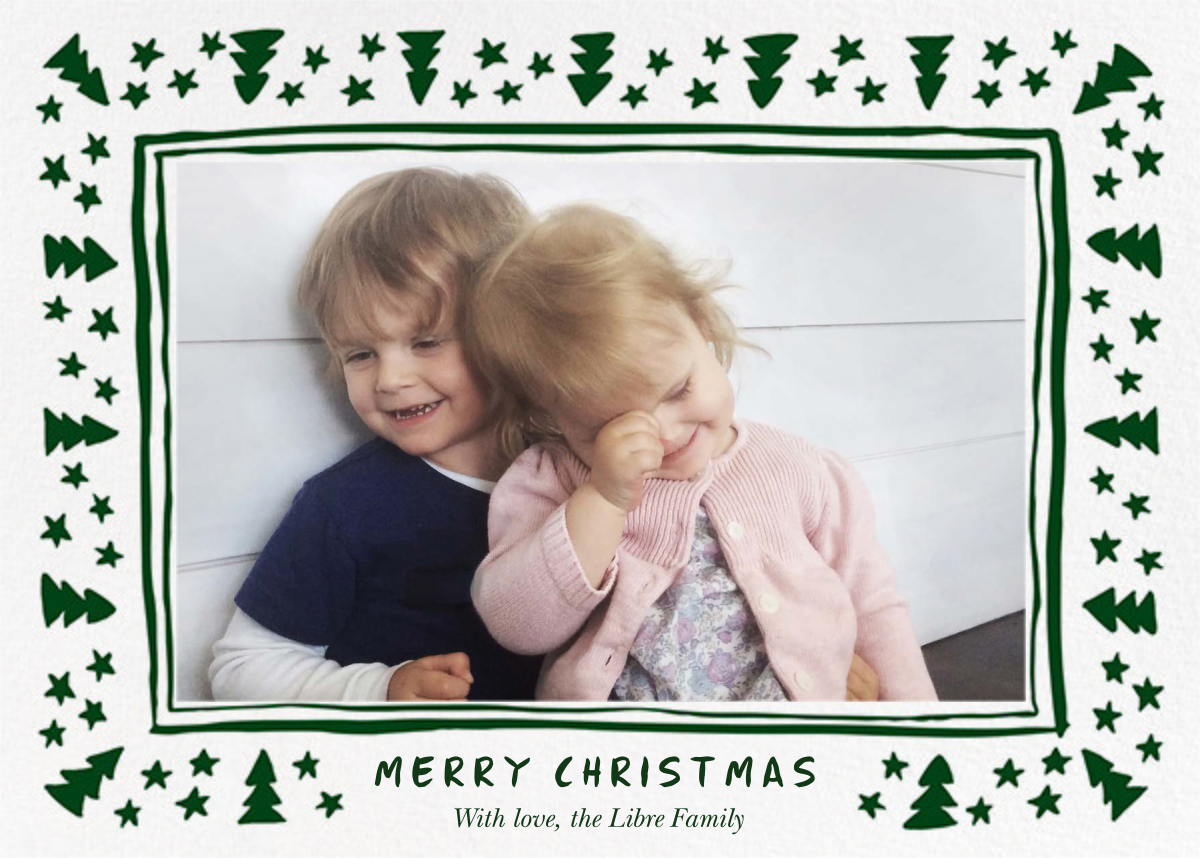 Forest Eve (Christmas Landscape) - Green - Linda and Harriett - Linda & Harriett holiday