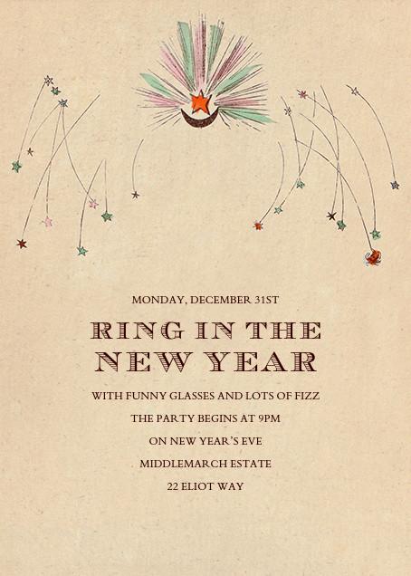 Angel Newyear - John Derian - New Year's Eve - card back