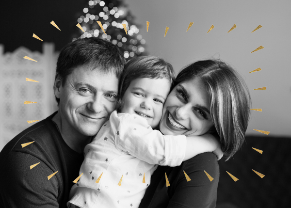 Éclat (Horizontal Photo) - Red/Gold - Paperless Post - Holiday cards