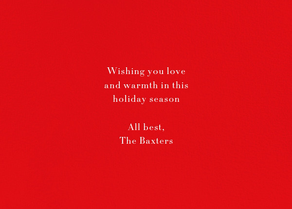 Éclat (Horizontal Photo) - Red/Gold - Paperless Post - Holiday cards - card back