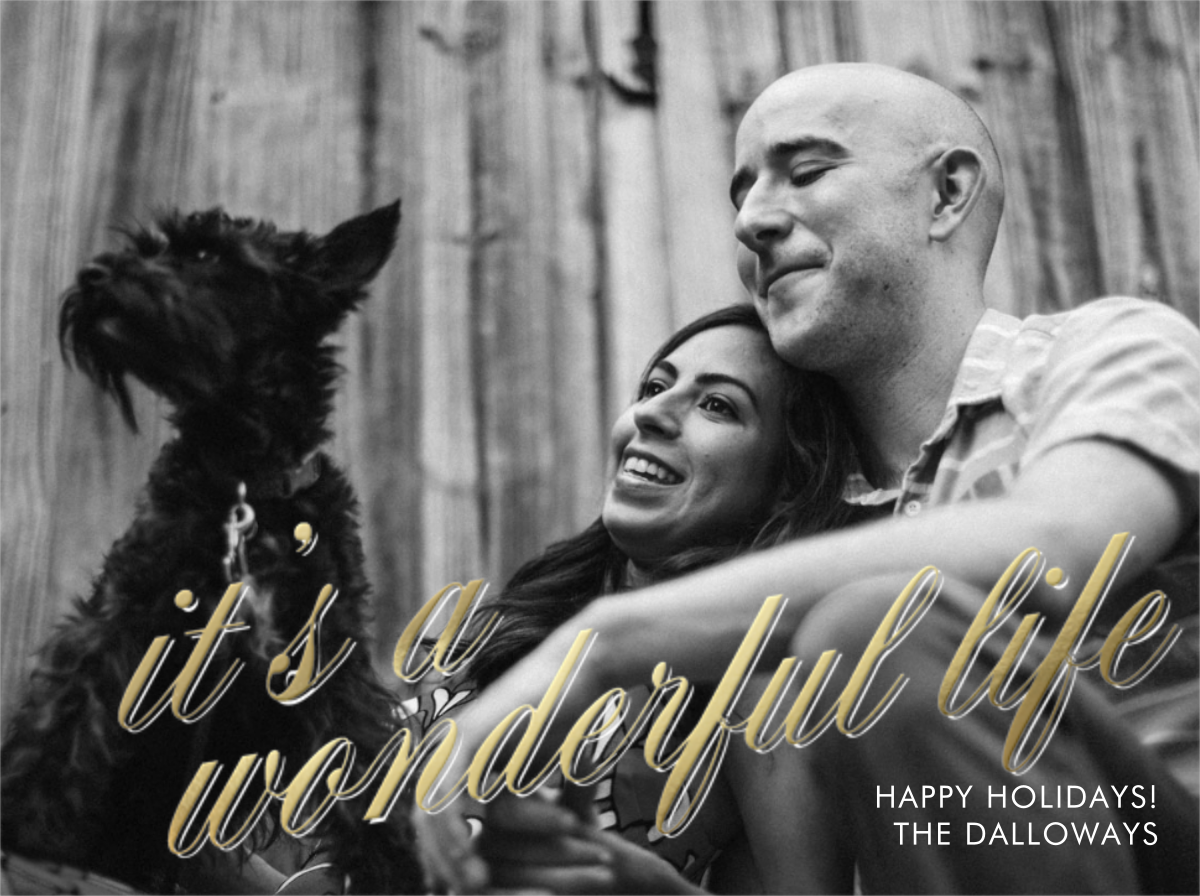 It's a Wonderful Life (Horizontal) - Gold - Paperless Post - Holiday cards