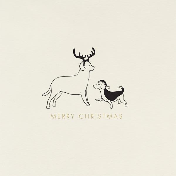 Festive Dogs - Paperless Post - Christmas