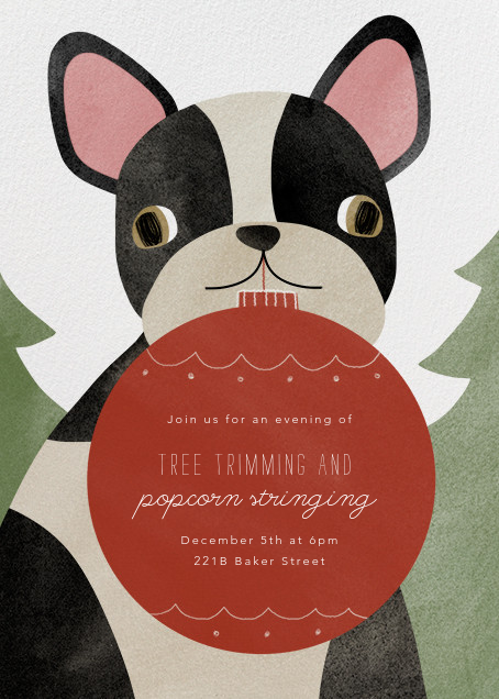 Boston Terrier Ornament - Paperless Post - Christmas party