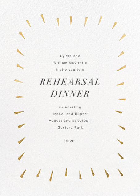 Éclat - White/Gold - Paperless Post - Rehearsal dinner