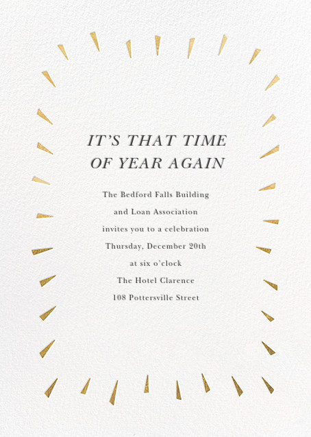 Éclat - White/Gold - Paperless Post - Corporate invitations