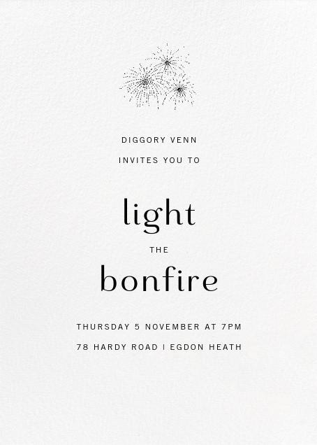 White (Tall) - Paperless Post - Bonfire Night