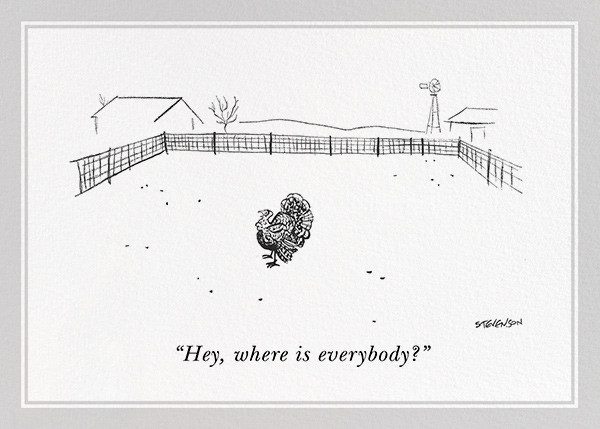 Lonely Turkey - The New Yorker - Thanksgiving