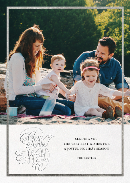 Messenger Dove - Silver - Paperless Post - Holiday cards