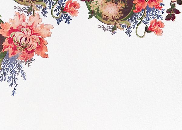 Rose Floral Ikat (Stationery) - White - Oscar de la Renta - Wedding