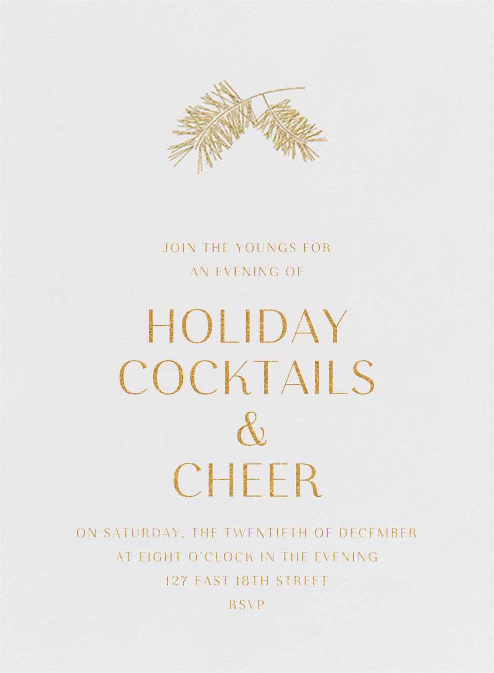 Caledonia (Invitation) - Paperless Post - Holiday party