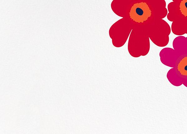 Unikko (Stationery) - Red - Marimekko - Personal Stationery