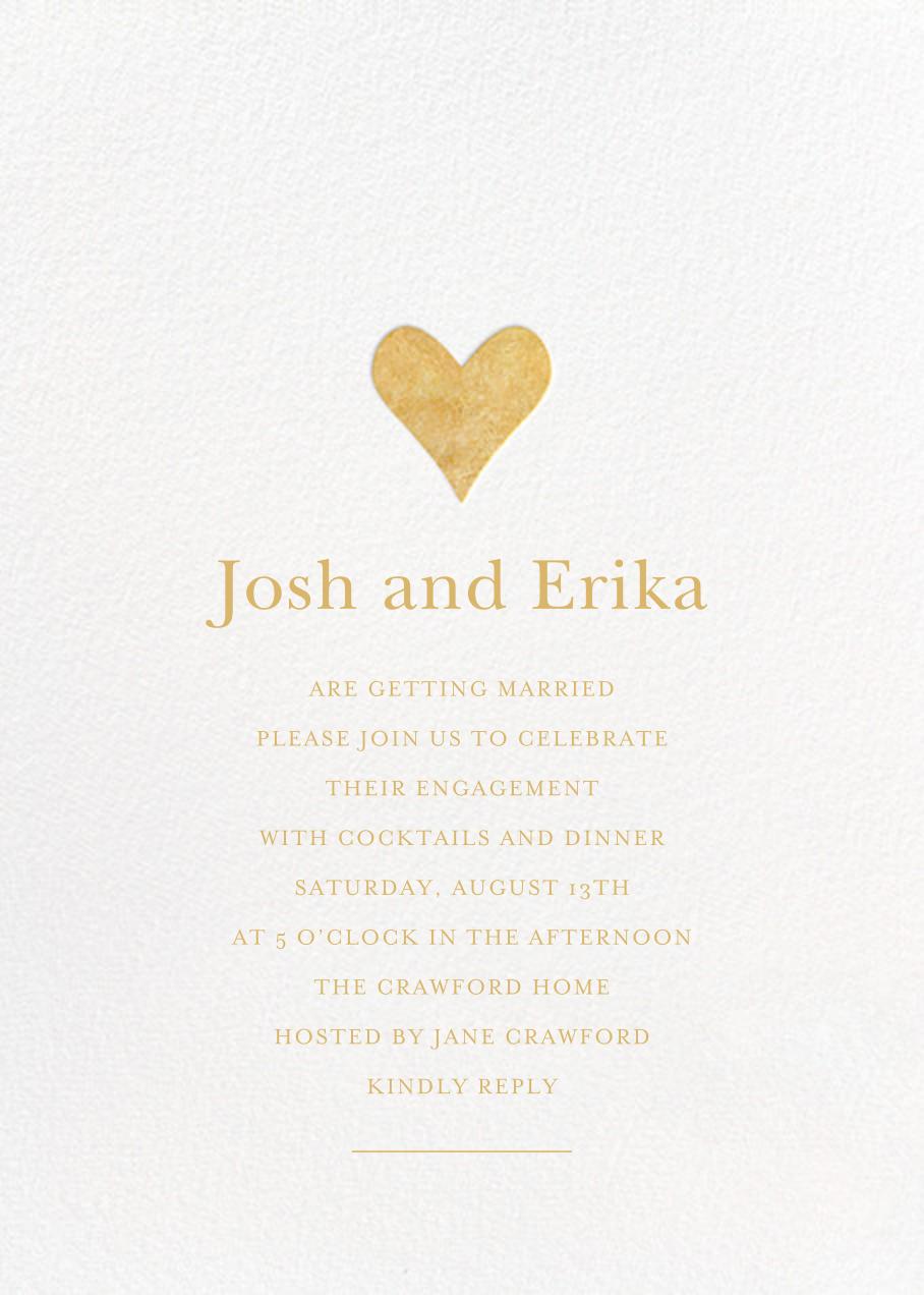 Luminous Heart - White/Gold - Sugar Paper - Engagement party
