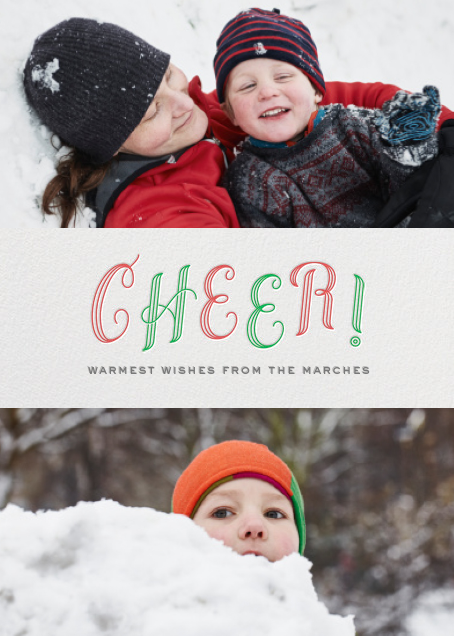 Cheer! - duo photo - Paperless Post - Holiday cards