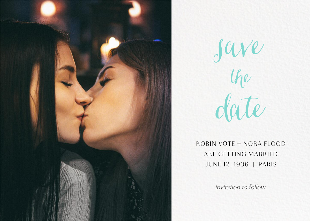 Photo Spread (Save the Date) - White - Paperless Post - Save the date