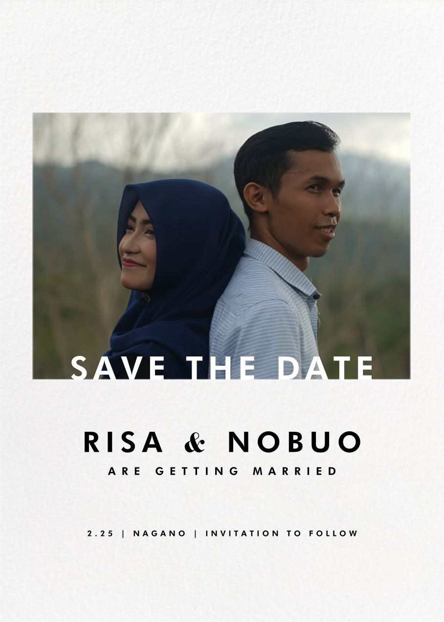 Horizontal Photo on Tall (Save the Date) - Paperless Post - Photo
