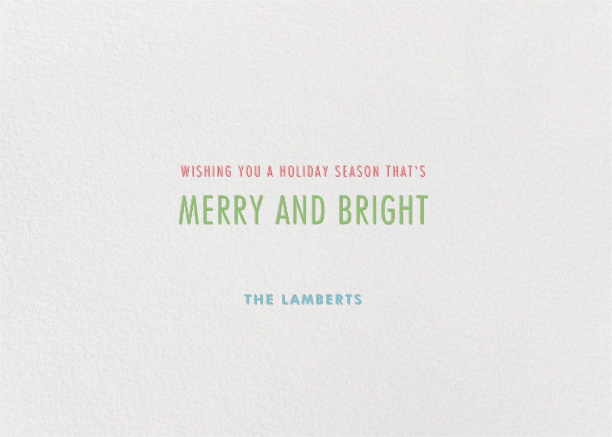 Holly Go Brightly - Paperless Post - Holiday cards - card back